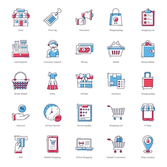 Online shopping vectors pack
