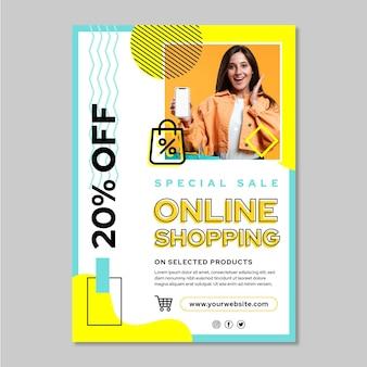 온라인 쇼핑 수직 전단지 서식 파일