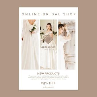 Online shopping vertical flyer template
