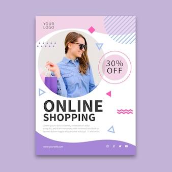 Online shopping vertical flyer