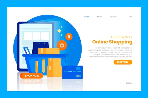 Online shopping web template