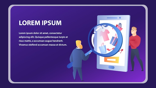 Online shopping website element template