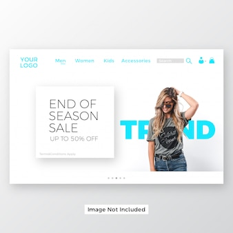 Online shopping website landing page template