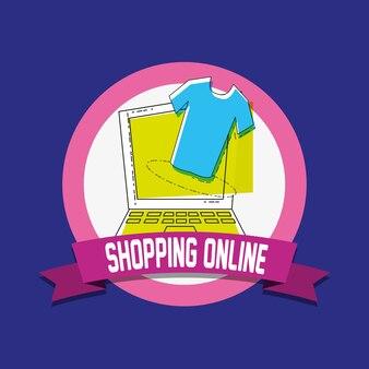 ラップトップポップアートスタイルのオンラインショッピング