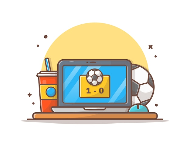 Online soccer match  icon