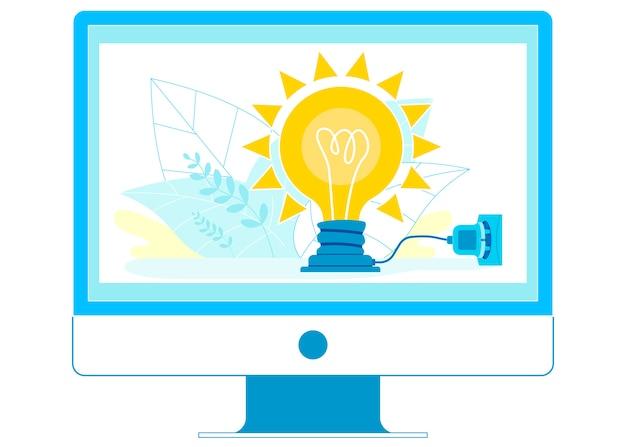 Online startup idea pitch   illustration