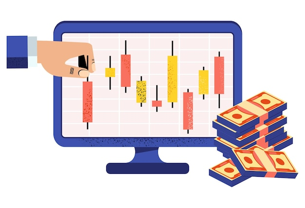 Online stock broker japanese candlestick chart financial market