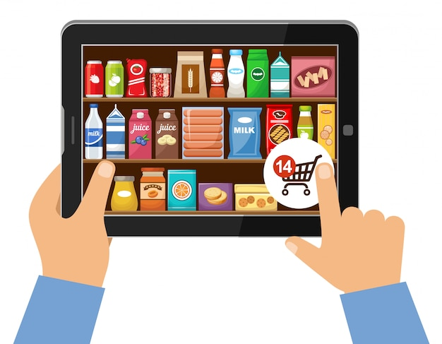 Online store of food concept