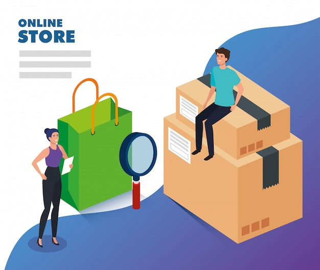 Online store with people