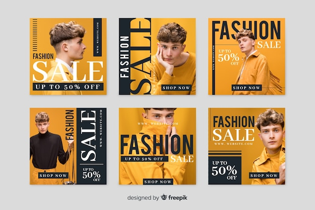 Online store with promotional collection template