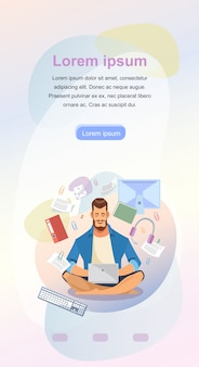 Online study service landing page vector template