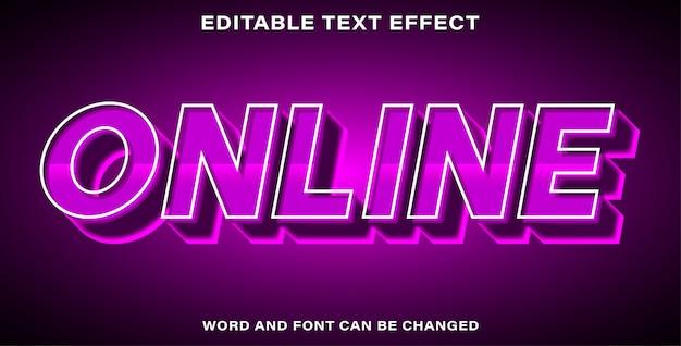 Текстовый эффект в стиле онлайн