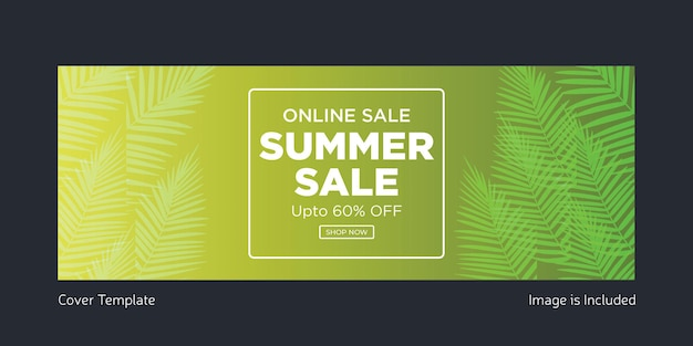 Online summer sale cover page template