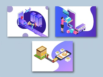 Online super fast delivery template collection.