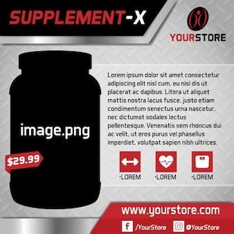 Online supplement store background