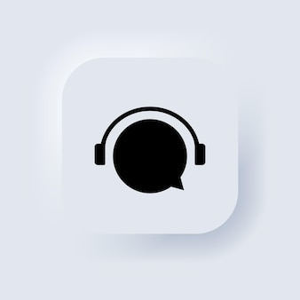 Online support 24 7 hours icon. call center support symbol with headphone image. consultant concept for e-commerce or elearning. neumorphic ui ux white user interface web button. vector eps 10.