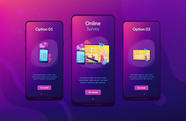 Online survey app interface template