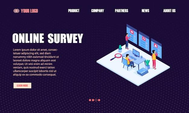 Online survey landing page