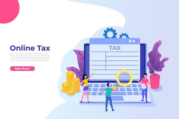 Online tax payment app concept