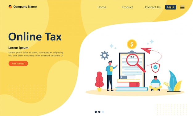 Online tax payment for web landing page