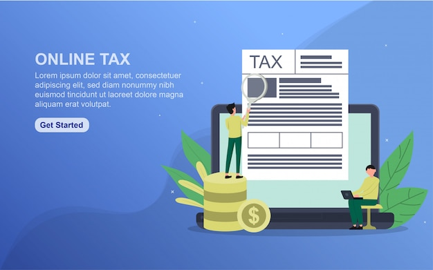 Online tax template.