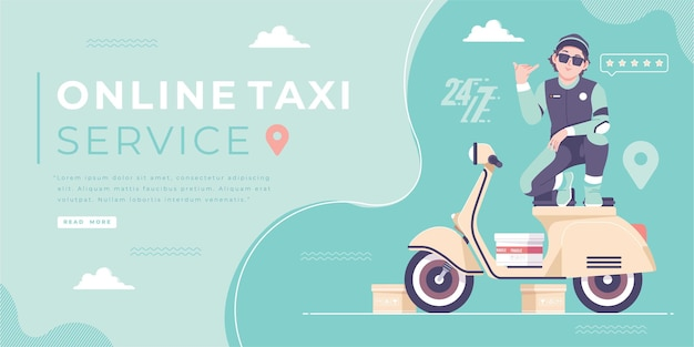 Online taxi bike service