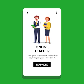 Online teacher language or business school
