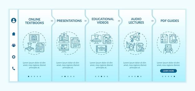 온라인 교육 디지털 리소스 온 보딩 템플릿