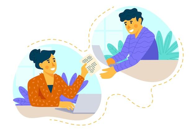 オンライン在宅勤務のコンセプト