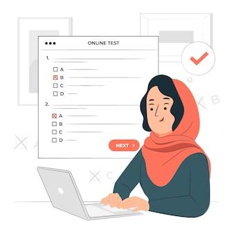 Иллюстрация концепции онлайн-тестирования Бесплатные векторы