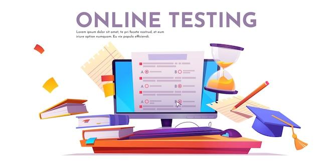 Online testing banner