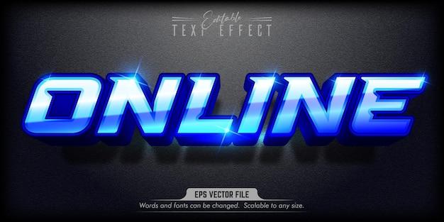 Online text, editable text effect