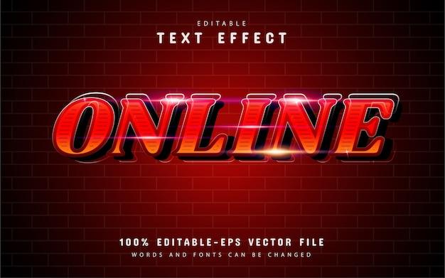 赤いグラデーションのオンラインテキスト効果