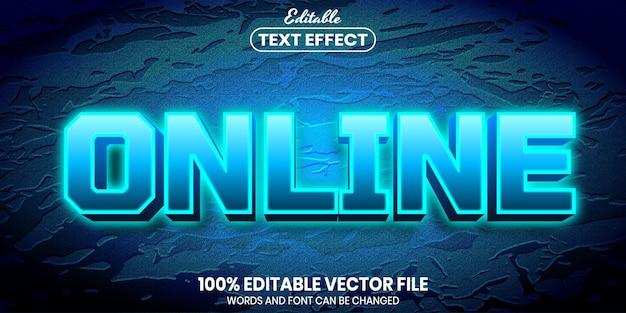 Онлайн-текст, редактируемый текстовый эффект в стиле шрифта