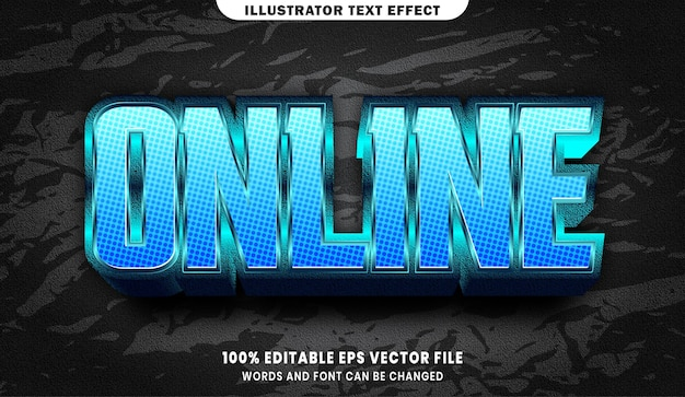 Online text, font style editable text effect