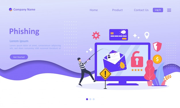 Online theft data landing page