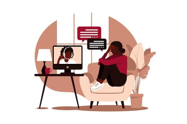 스트레스와 우울증에 대한 온라인 치료 및 상담