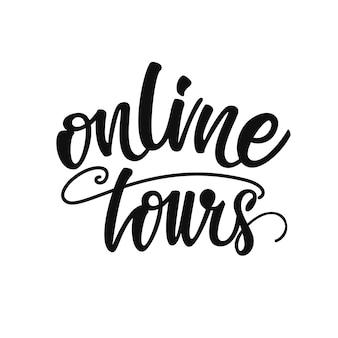 Online tours lettering