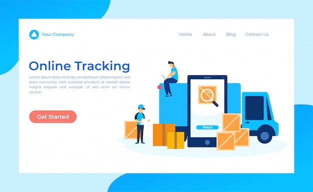 Online tracking  landing page