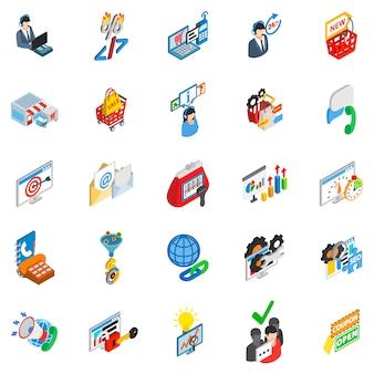 Online trade icon set
