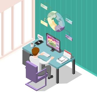 Online trading isometric
