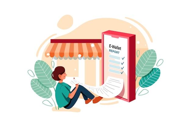 Иллюстрация онлайн-отчета о транзакциях