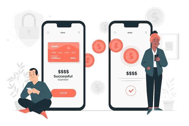 Online transactionsconcept illustration