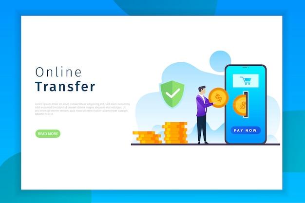 Online transfer landing page