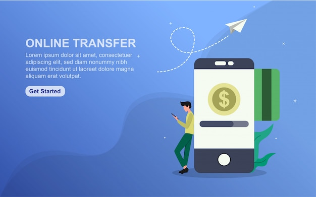 Online transfer template