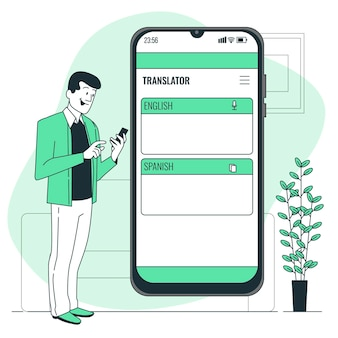 Online translatorconcept illustration