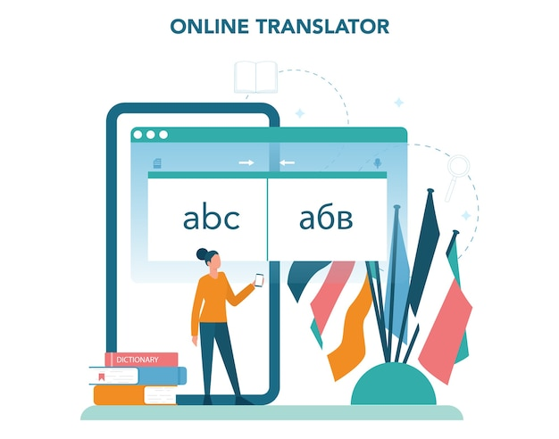 Online translator in mobile phone or another device