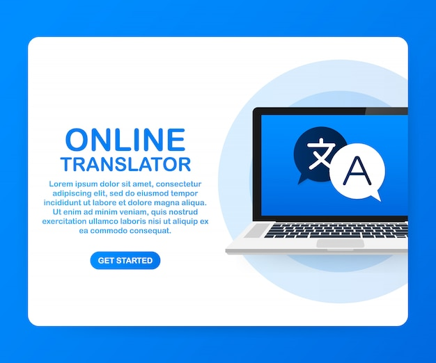 Online translator template