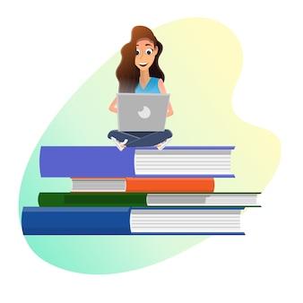 Online university education technology, e-library
