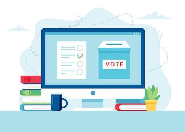 Online voting concept illustration